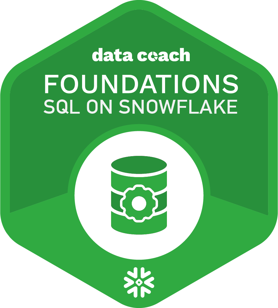 SQL on Snowflake Foundations
